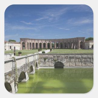 Italy, Mantua Province, Mantua. Courtyard, Square Sticker