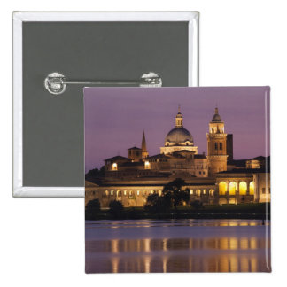 Italy, Mantua Province, Mantua. Town view and 15 Cm Square Badge