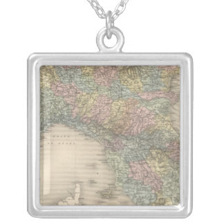 Italy Map 2 Silver Plated Necklace