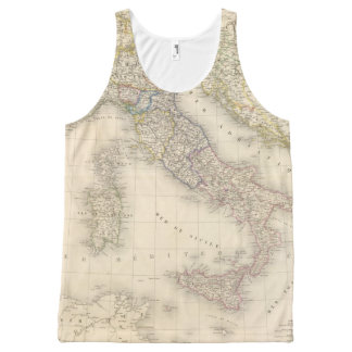 Italy Map All-Over Print Tank Top