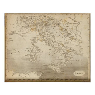 Italy Map by Arrowsmith Poster