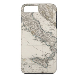Italy Map by Stieler iPhone 8 Plus/7 Plus Case