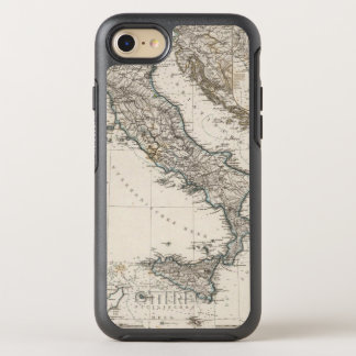 Italy Map by Stieler OtterBox Symmetry iPhone 8/7 Case