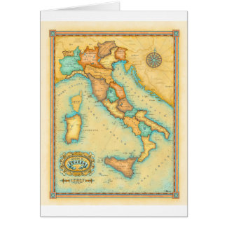 Italy Map Card