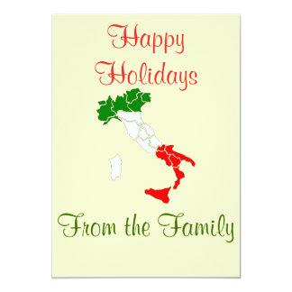 Italy map Christmas card 13 Cm X 18 Cm Invitation Card