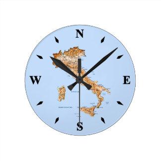 Italy Map Clock