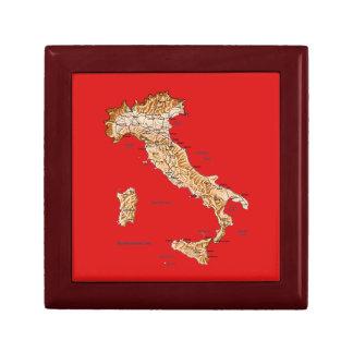 Italy Map Gift Box