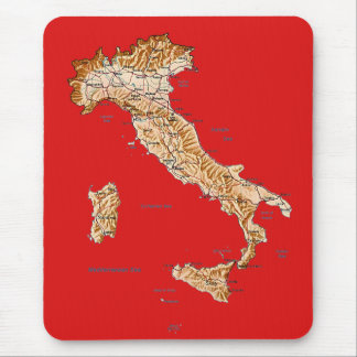 Italy Map Mousepad