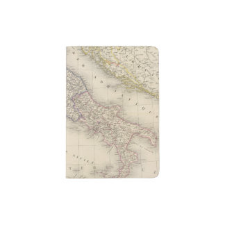 Italy Map Passport Holder