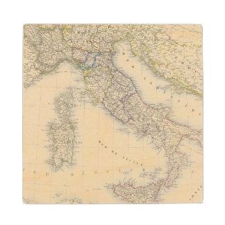 Italy Map Wood Coaster