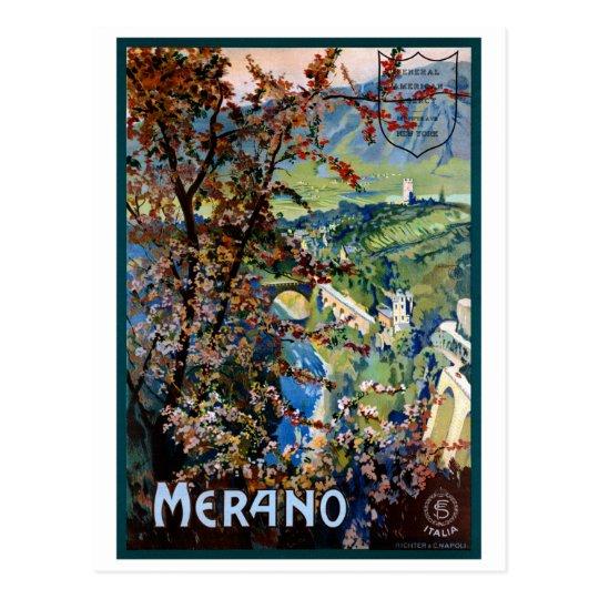 Italy Merano Meran Restored Vintage Travel Poster Postcard