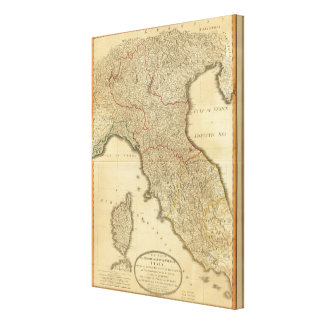 Italy middle, upper canvas print