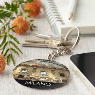 ITALY MILAN BASIC ROUND BUTTON KEY RING