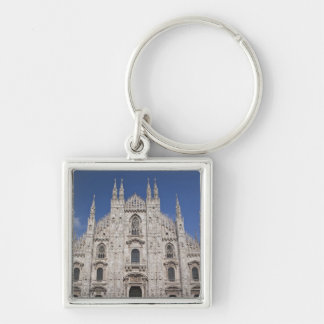 Italy, Milan Province, Milan. Milan Cathedral, 2 Silver-Colored Square Key Ring