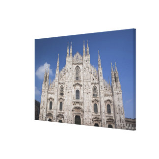 Italy, Milan Province, Milan. Milan Cathedral, 2 Stretched Canvas Print