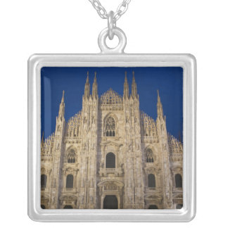 Italy, Milan Province, Milan. Milan Cathedral, Silver Plated Necklace