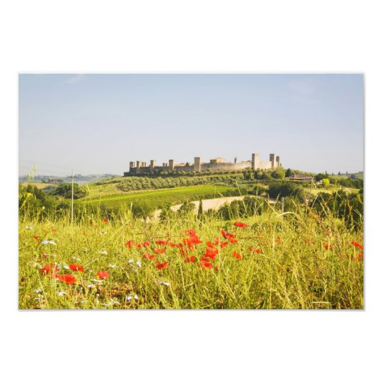 Italy, Monteriggioni, Field View of Photo Print