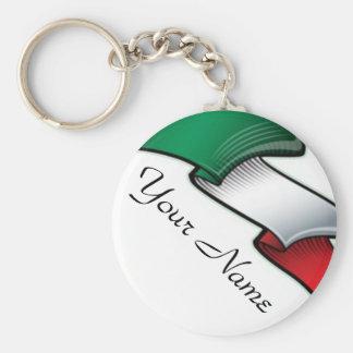 Italy- Name - Flag Basic Round Button Key Ring