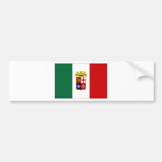 Italy Naval Ensign Bumper Sticker