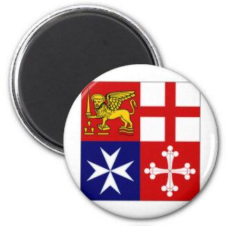 Italy Naval Jack 6 Cm Round Magnet