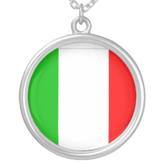 italy round pendant necklace