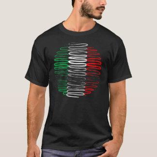 Italy on Black Tee Shirt