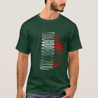 Italy on Green Tee Shirt