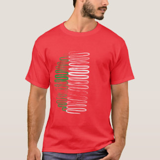 Italy on Red Tee Shirt