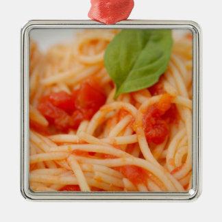 Italy, Orta, Lake Orta, spaghetti with tomato Christmas Ornament