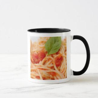 Italy, Orta, Lake Orta, spaghetti with tomato Mug