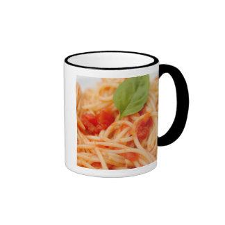 Italy, Orta, Lake Orta, spaghetti with tomato Mugs