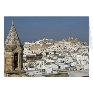 Italy, Ostuni, close up view of old city Card
