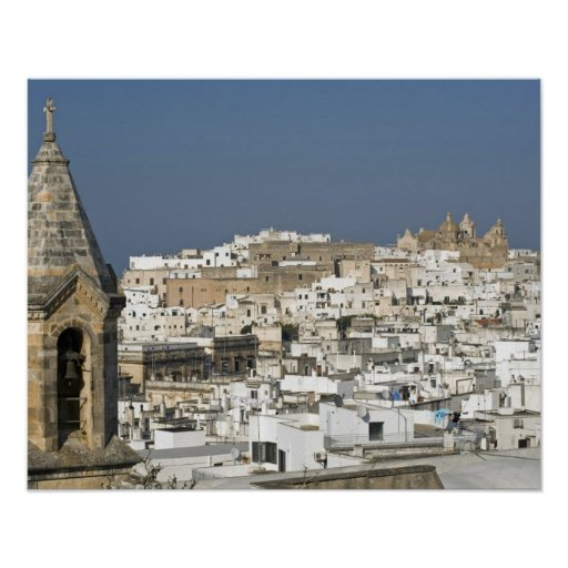 Italy, Ostuni, close up view of old city Poster