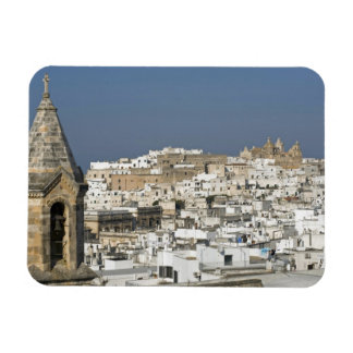 Italy, Ostuni, close up view of old city Rectangular Photo Magnet