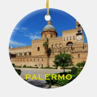 Italy - Palermo Sicily Custom Christmas Ornament