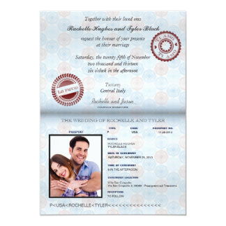 Italy Passport (no glare) Wedding Invitation II
