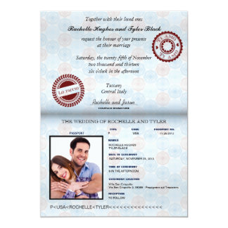 Italy Passport Wedding Invitation_custom unlocked Card