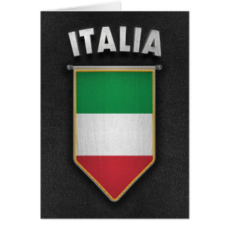 Italy Pennant with high quality leather look Greeting Card