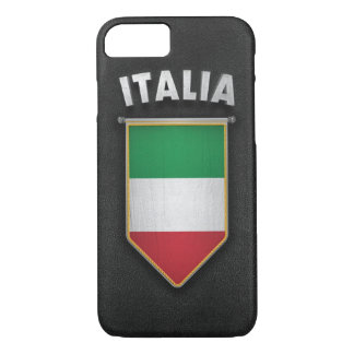 Italy Pennant with high quality leather look iPhone 7 Case