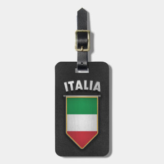 Italy Pennant with high quality leather look Luggage Tags