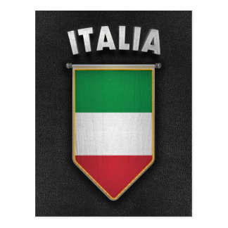 Italy Pennant with high quality leather look Postcard