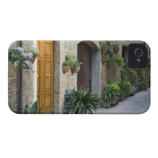 Italy, Pienza. Flower pots and potted plants iPhone 4 Case-Mate Cases