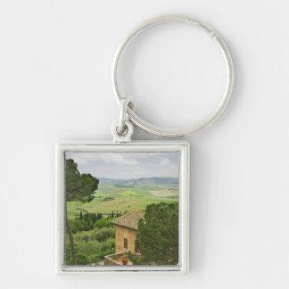 Italy, Pienza. View of the Tuscany Key Ring