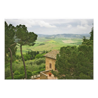 Italy, Pienza. View of the Tuscany Photo Print