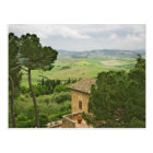 Italy, Pienza. View of the Tuscany Postcard