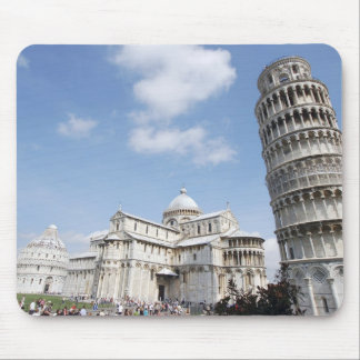 Italy, Pisa. Cathedral, baptistry and Leaning Mouse Pad