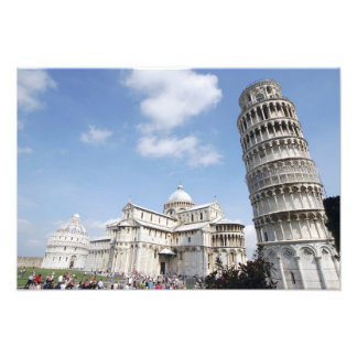 Italy, Pisa. Cathedral, baptistry and Leaning Photo Print