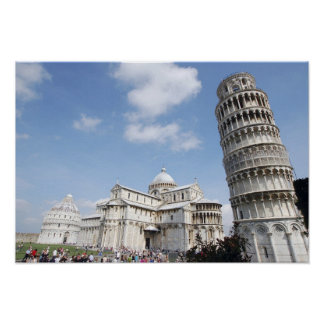 Italy, Pisa. Cathedral, baptistry and Leaning Poster