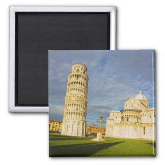 Italy, Pisa, Duomo and Leaning Tower, Pisa, 2 Square Magnet