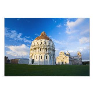 Italy, Pisa, Duomo, Leaning Towerand Field of Photo Print